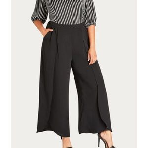 NEW City Chic Split Front Wide Leg Pants